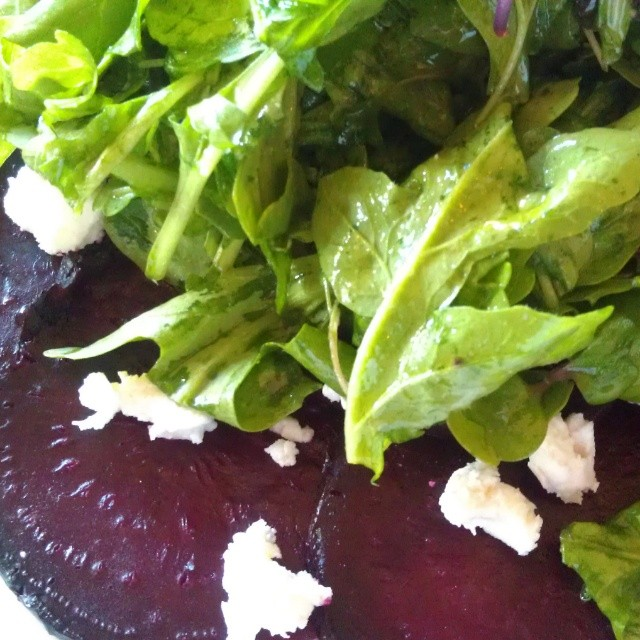 Beet carpaccio at Seven in Lakeside Montana. Celebrating the Birthday of one of my favorite men ~ Dad!  #birthday #food #beets