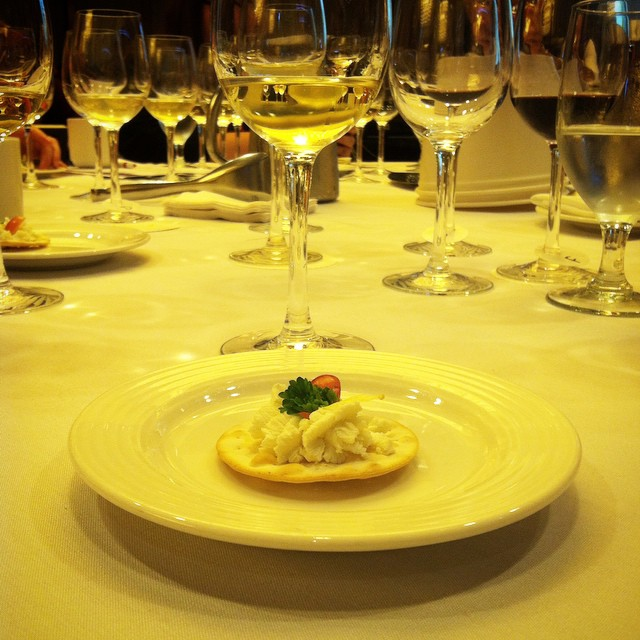Goat cheese and Entre-duex-mers. #ifbc #ifbcbordeaux #wine