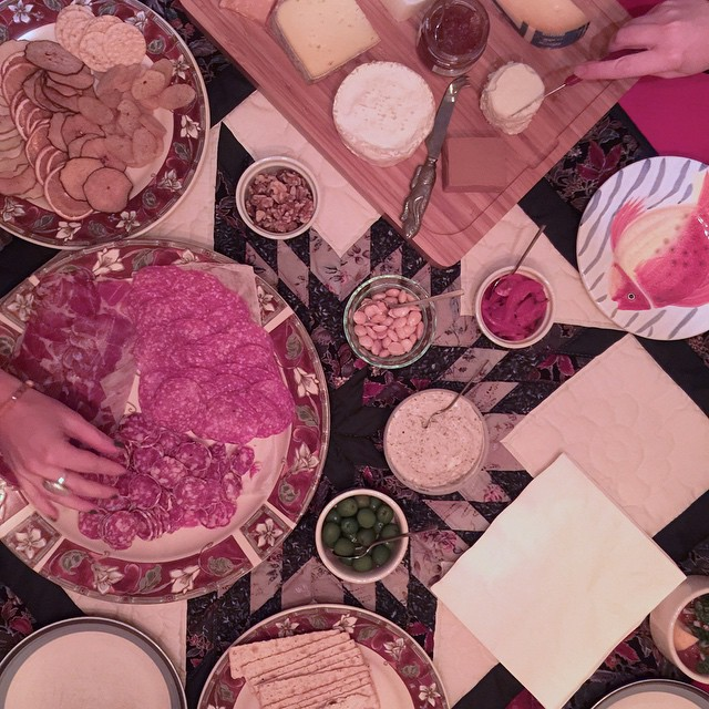 Salami and olives and cheese, oh my!!! Such a fabulous dinner around fantastic food at Whidbey Island Retreat. Looking forward to helping support dreams and intentions in 2015. #whidbeyislandretreat #cheese #rockin2015